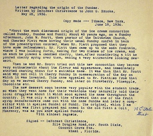Letter from Platt & Colt clerk DeForest Christiance to John G. Brooks, May 25, 1936