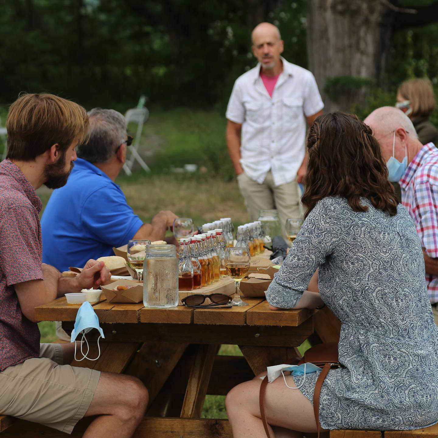 Socially-distanced Outdoor Tasting at Eve's Cidery