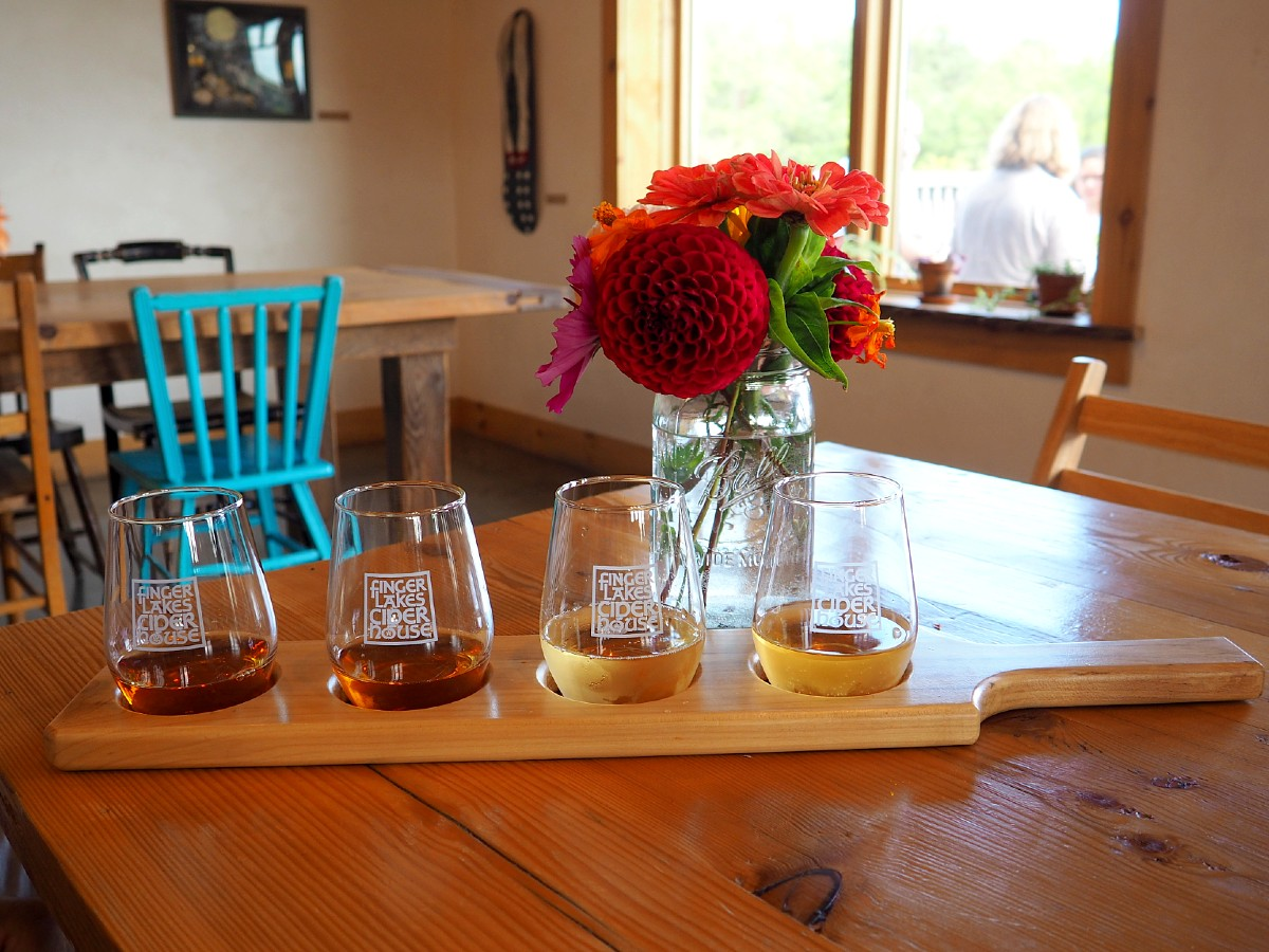 ciders at Finger Lakes Cider House
