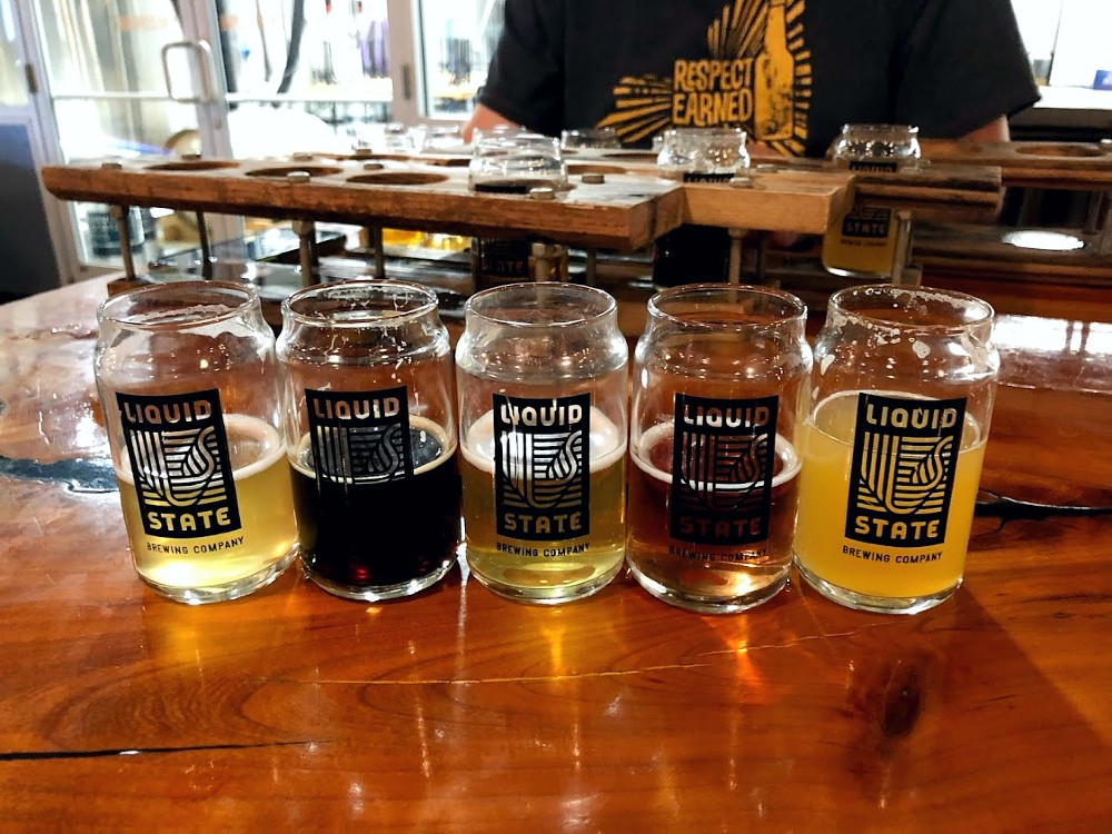 beers at Liquid State Brewing Company