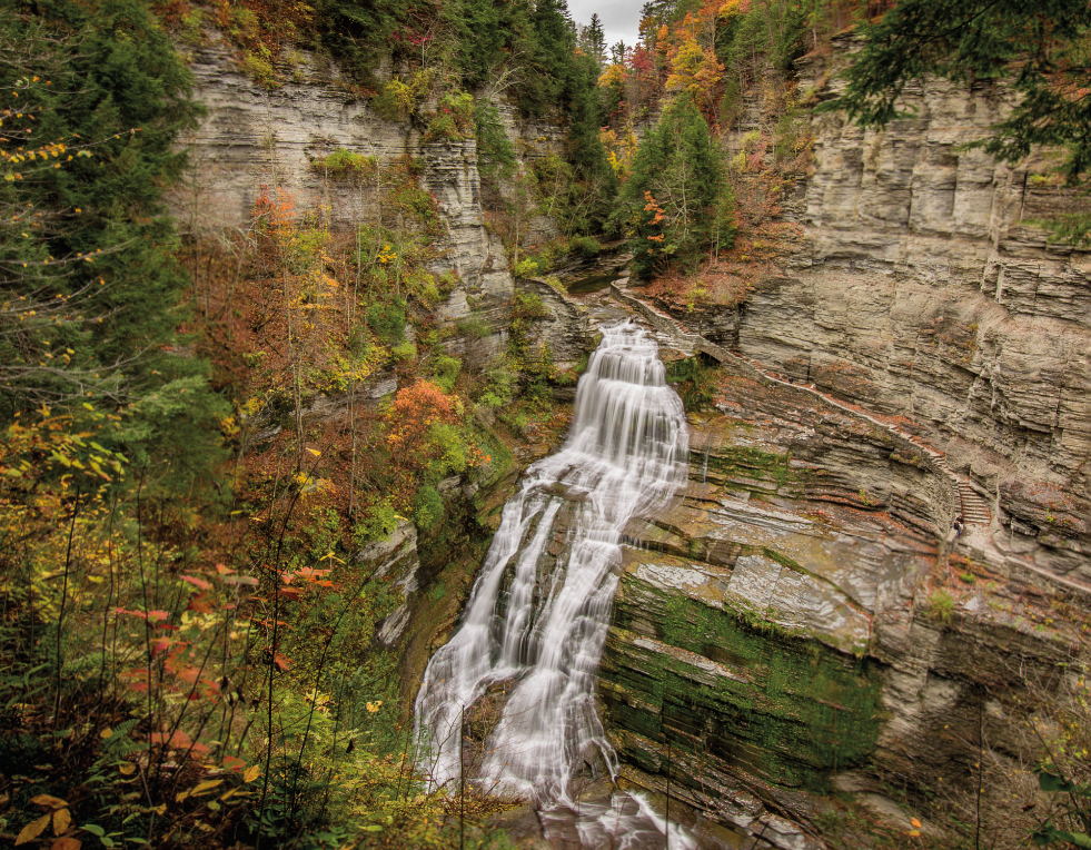 Lucifer Falls in fall at Robert Treman in Ithaca