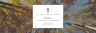 Screenshot of Of the Forest Farm Website
