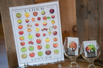chart with apples used to make cider